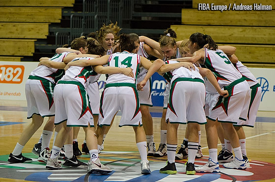 Bulgaria celebrate their win over Belarus